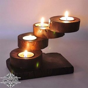 جاشمعی طبقاتی تنه درخت-جاشمعی جنگلی-کارلوکس-jungle candleholder-karlux