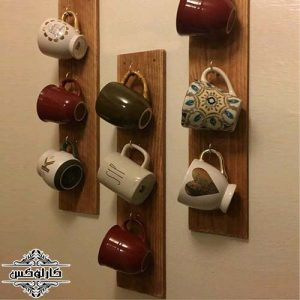 شلف دیواری ماگ-آویز ماگ-آویز فنجان-کارلوکس-wall shelf mug-karlux.ir