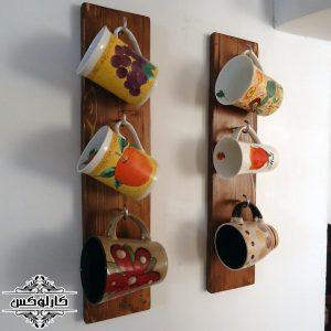 شلف دیواری ماگ 2-آویز ماگ-آویز فنجان-کارلوکس-wall shelf mug-karlux.ir