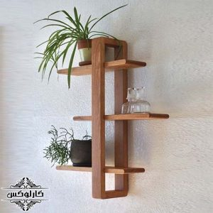 شلف سه طبقه چوبی 2-شلف چوبی 3 طبقه-کارلوکس-wooden wall shelf-karlux